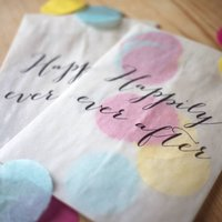 Set Of 10 'Happily Ever After' Confetti Bags