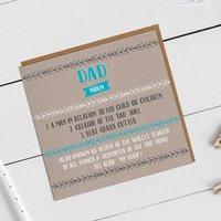 Funny Dad Definiton Card