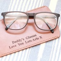 Personalised Handmade Real Leather Glasses Case