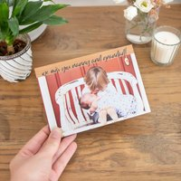 Personalised Photo Wooden Card