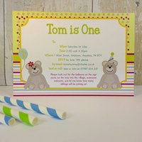16 Teddy Bears Picnic Invitations Or Thank You Cards