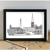 Preston Skyline Cityscape Art Print Unframed
