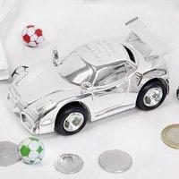 Personalised Christening Silver Money Box