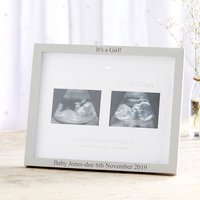 Personalised '1st' And '2nd' Scan Photo Frame