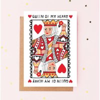 Queen Of My Heart Greeting Card