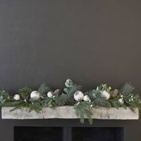 Majestic Pine Garland With Cones And Baubles