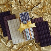 Five Bars Of Chocolate In A Happy Birthday Gift Box