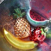 Glass Fruit Christmas Baubles
