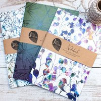 Botanical Floral A5 Recycled Notebooks | Set Of Three