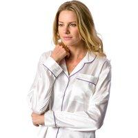 Ladies Ivory Silk Pyjamas