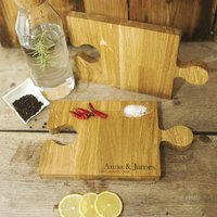 Cutting Board And Party Puzzle Platter For Food, Drinks