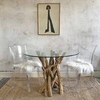 Small Driftwood Round Dining Table To Seat Four