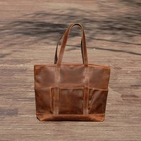 Genuine Leather Tote Shopper Bag