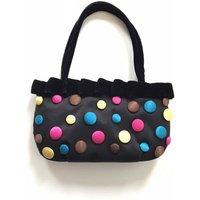 Satin Button Evening Bag