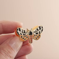 British Moth Enamel Pin Badge