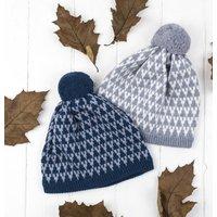 Arrow Knitted Pom Pom Hat
