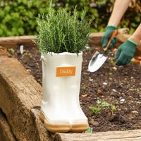 Personalised Garden Welly Boots Planter