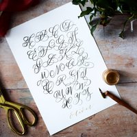 Screenprinted Alphabet Calligraphy Poster