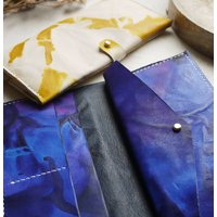 Leather Tie Dye Bi Fold Stud Purse