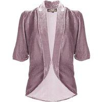 1940's Style Tea Jacket In Silk Velvet