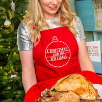 'Christmas With The...' Bauble Apron