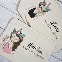Create Your Own Personalised Be A Unicorn Makeup Bag