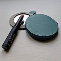 Personalised Leather Compact Mirror