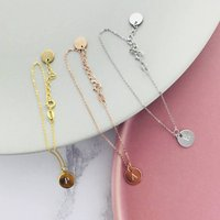 Simple Initial Charm Bracelet