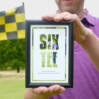 Personalised Golf 60th Birthday Photo Print