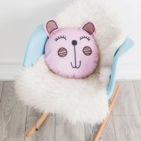 Large Pink Mouse Nursery Scatter Cushion