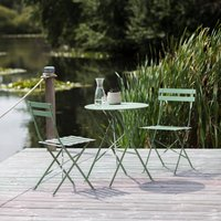 Small Bistro Set In Soft Green