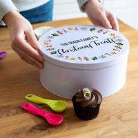 Personalised Christmas Treats Cake Tin
