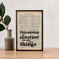 Shakespeare 'Friendship Is Constant' Friend Gift Print