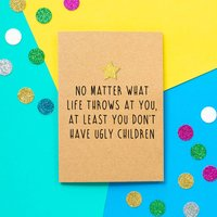 'What Life Throws At You' Funny Father's Day Card