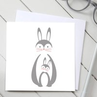 Parent And Baby Rabbit Card