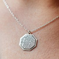 Personalised City Map Pendant