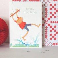 Rope Swing Birthday Card