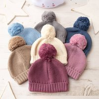 Unisex Big Bobble Knitted Baby Hat