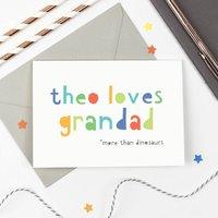 Personalised 'Loves Grandad' Card