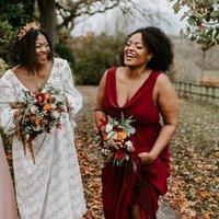 Scoop Cowl Neck Bridesmaid Dress