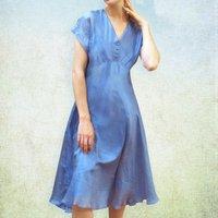 Retro Style Organza Party Dress