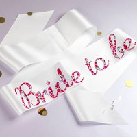 Bride To Be And Hen Party Sashes With Liberty Print