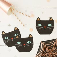 Halloween Black Cat Party Napkins
