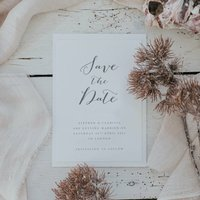 Bliss Grey Save The Date