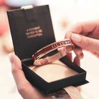 Personalised Special Date Bangle Handmade 18 Ct Gold, Gold