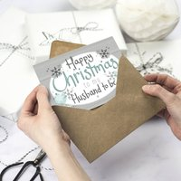Happy Christmas Husband To Me Card