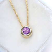 18ct Gold Amethyst Necklace, February Birthstone, Gold