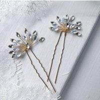 Starburst Rhinestone Wedding Hair Pin