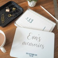 Personalised Baby Memories Notebook Tin Set