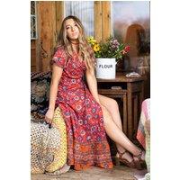 Dixie Wraparound Dress Red
